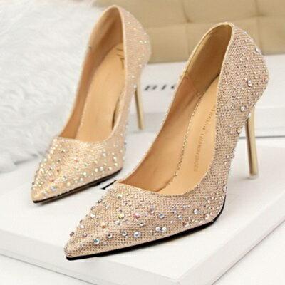 ☆高跟鞋 水晶婚鞋-尖頭性感剔透熟女必備女鞋子6色73e20【獨家進口】【米蘭精品】