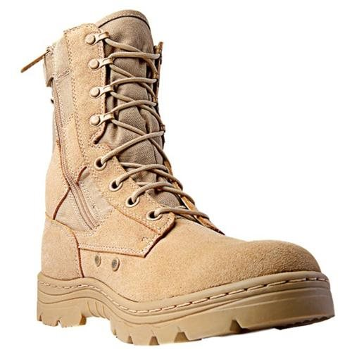 "Ridge Tactical Boots Men Dura-Max Desert Zip 8"" Shaft   3105 1"