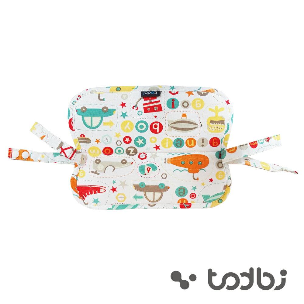 【韓國TODBI】雙面有機棉背巾(花朵 / 淘氣城堡)口水墊-米菲寶貝 1