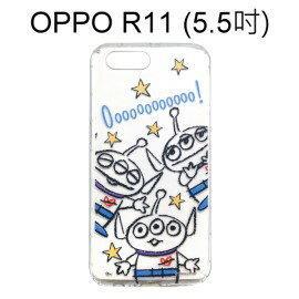 迪士尼空壓氣墊軟殼[Q版]三眼怪OPPOR11(5.5吋)【Disney正版】