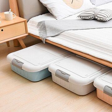Nicegoods 生活好東西:【+O家窩】萊納床下掀蓋滑輪整理箱58L-3入組-DIY(收納箱換季衣物隙縫)