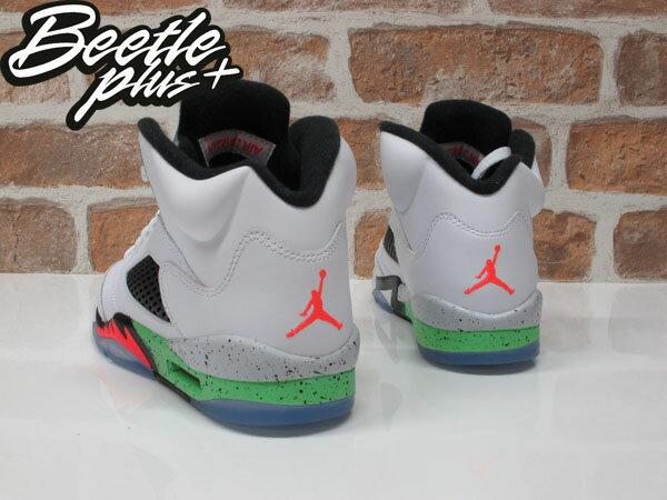 BEETLE PLUS AIR JORDAN V SPACE JAM 5代 3M 反光 大童鞋 女鞋 怪物奇兵 毒液綠 白綠 白黑紅 籃球鞋 流川楓 440888-115 2