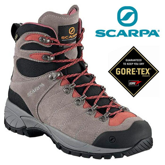 【Scarpa 義大利】R-Evolution Goretex 登山鞋 防水登山鞋 健行鞋 女款 褐灰/玫紅/60266-202