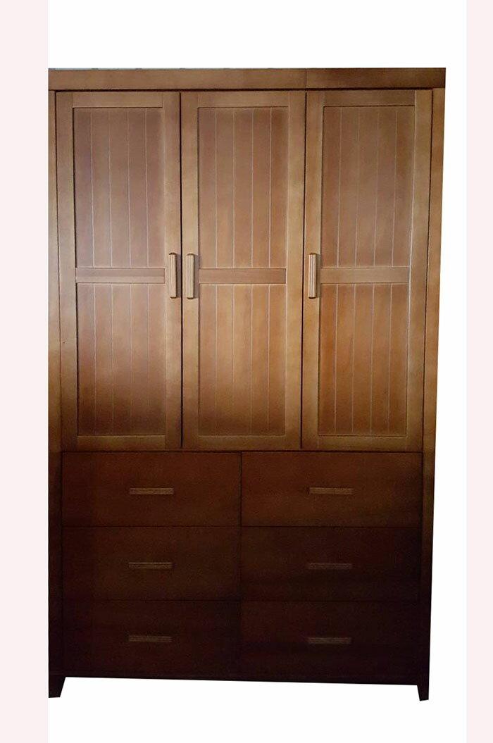 【尚品家具】606-33 南洋檜木半實木4尺衣櫥(另有3尺) 衣櫃/櫥櫃/衣櫥/收納櫃/Wardrobe