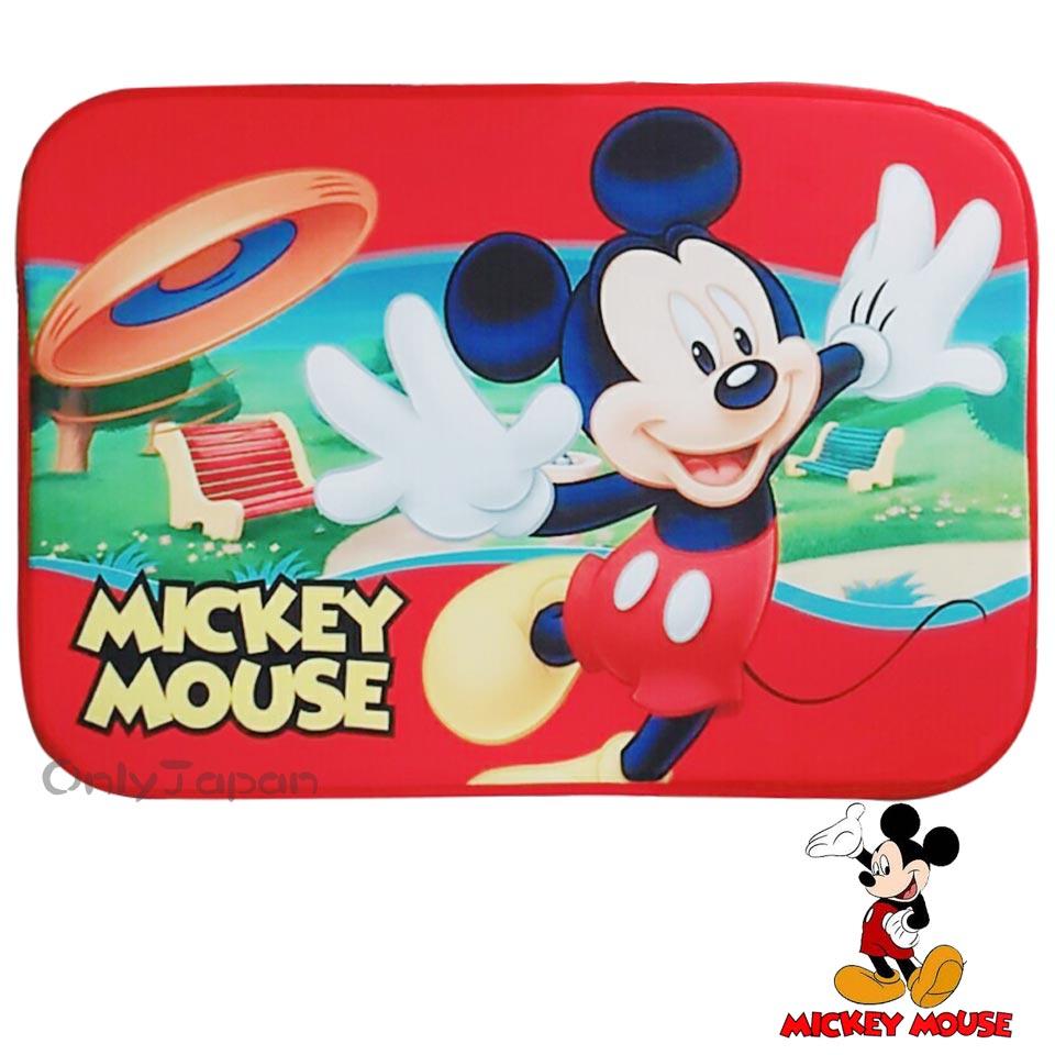 【真愛日本】18011500001 絨毛地墊-米奇開心 迪士尼 米老鼠 米奇 mickey 吸水地墊 地毯 腳踏墊
