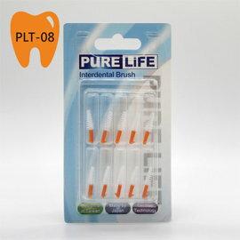 ~PURE LIFE~寶淨牙間刷~纖柔護齒可替換牙間刷毛 ^(橘色錐形1.3~1.4mm