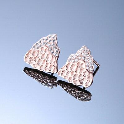 925純銀耳環鑲鑽耳飾~ 蓮蓬 生日情人節 女飾品2色73dy170~ ~~米蘭 ~