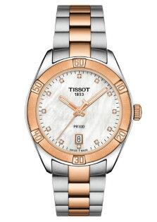 TISSOT天梭表T1019102211600真鑽雙色品味氣質石英腕錶雙色+白36mm