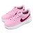 Shoestw【905220-605】NIKE FORCE 1 '18 (TD) 休閒鞋 皮革 鬆緊帶 免綁鞋帶 粉紅紫勾 小童鞋 0