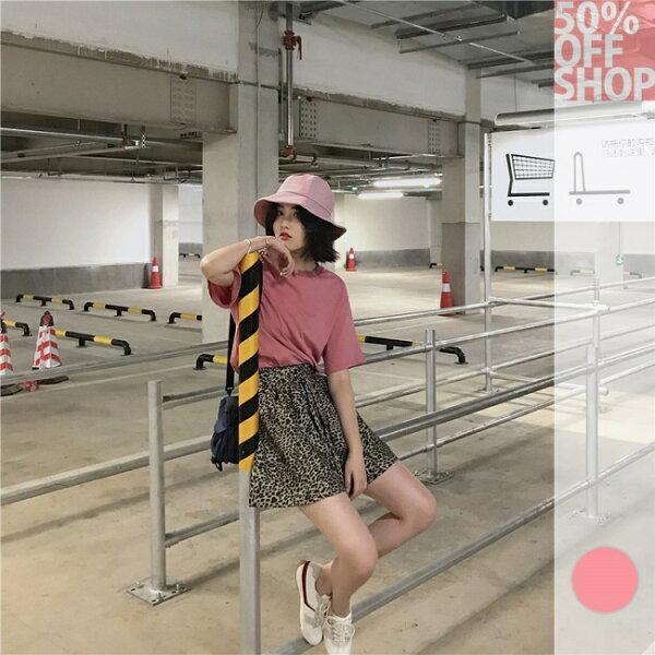 50%OFFSHOP短袖T恤女ulzzang寬鬆韓版百搭學生圓領印花T(1色)【G036002C】