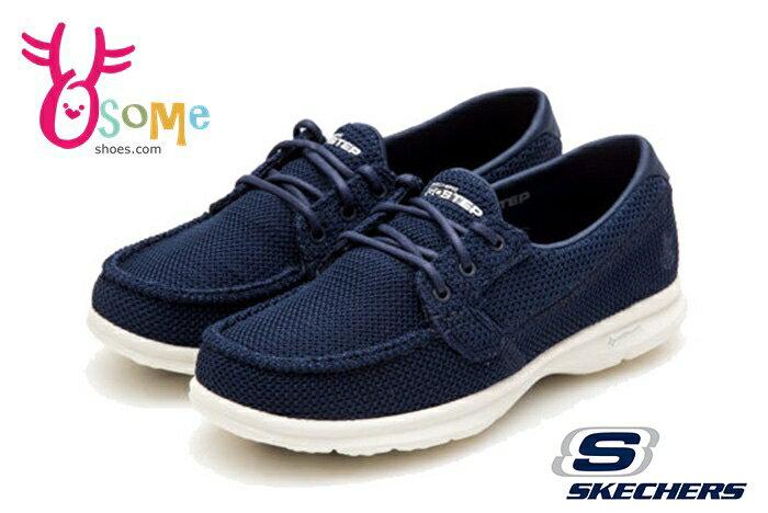 SKECHERS 女休閒鞋 經典鞋款 GO STEP超輕量健走鞋O8276#藍色◆OSOME奧森鞋業