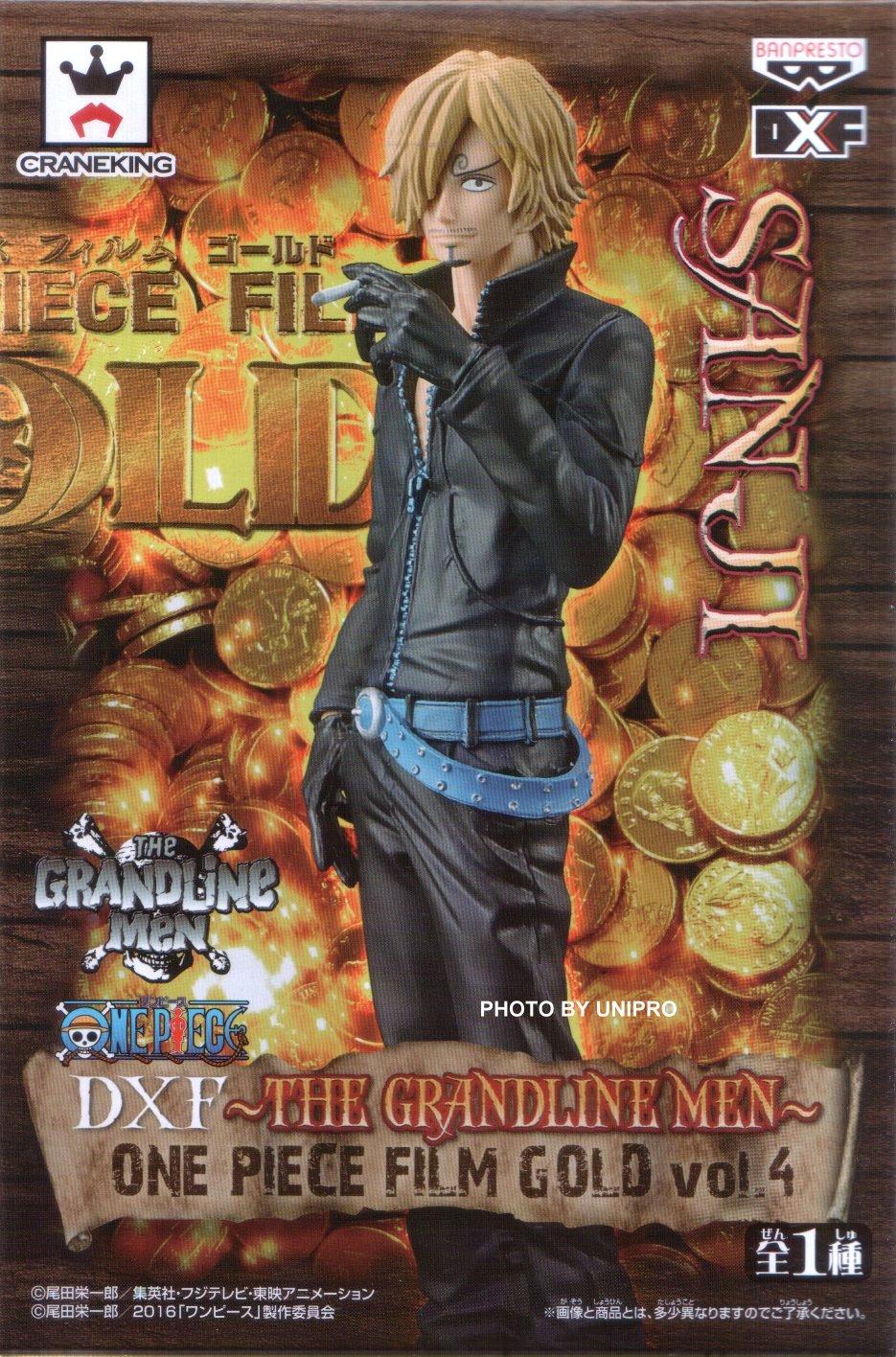 台灣代理版 電影版 DXF THE GRANDLINE MEN ONE PIECE FILM GOLD VOL.4 文斯莫克 香吉士 海賊王 航海王 公仔