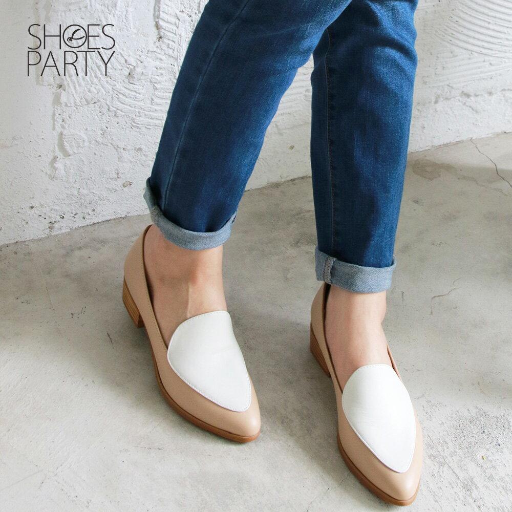 【P2-19427L】真皮配色復古爵士鞋_Shoes Party 1