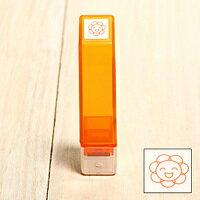 「Kodomo小孩牌」手帳小印章 - 096笑笑太陽花(橘)