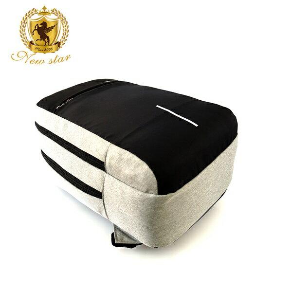 防水雙層密碼鎖防盜充電後背包包(可掛行李箱) NEW STAR BK259 5