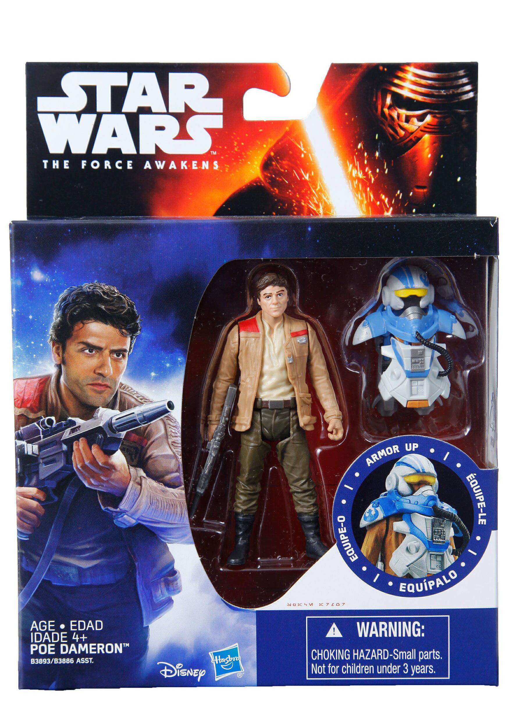 (卡司 盒損)孩之寶 Star Wars 星際大戰 電影 3.75吋 戴 波倫 飛行員 POE DAMERON