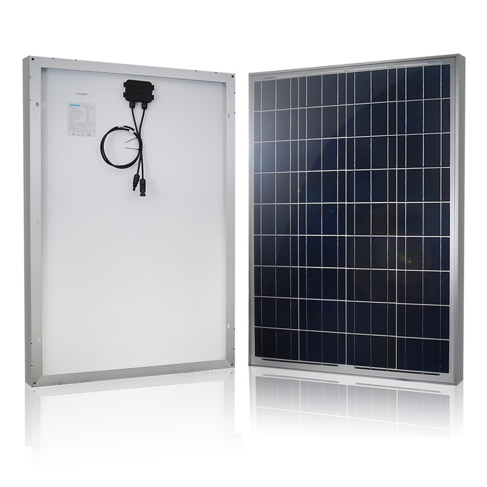Renogy 100 Watt 12 Volt Polycrystalline Solar Panel kit 1