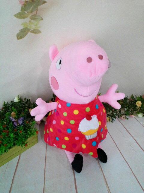 ~*My 71*~   絨毛娃娃  12吋 粉紅豬小妹 (蛋糕款) 高 45cm 佩佩 豬 造型 玩偶 兒童 玩具 禮物
