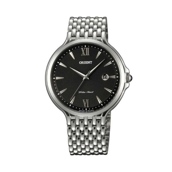 ORIENT東方錶CLASSICDESIGN系列(FUNF7006B)懷舊復古風石英錶五珠鍊帶黑色40.5mm