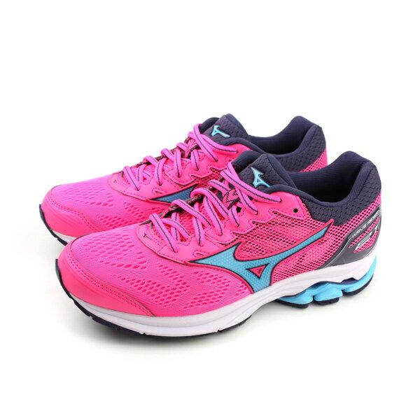 HUMAN PEACE:美津濃MizunoWAVERIDER21慢跑鞋運動鞋桃紅色女鞋J1GD180323no044