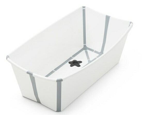 【領券現折120★折扣後$1560】丹麥 Stokke Flexi Bath 摺疊式多功能浴盆(攜帶型浴缸) 白色*夏日微風*