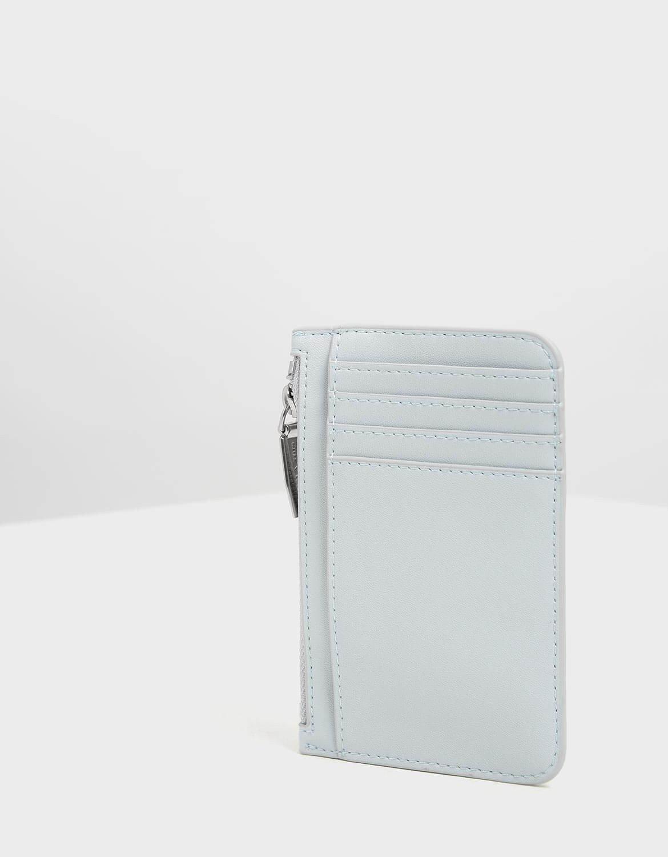 【直飛現貨 正品保證】小CK 壓紋滾邊卡夾 錢包(淺藍色) CK6-50770360 皮夾 皮包 名片夾