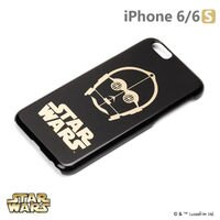 正版 Starwars iPhone 6/6s 星際大戰 金箔硬殼黑暗系列 - C-3PO