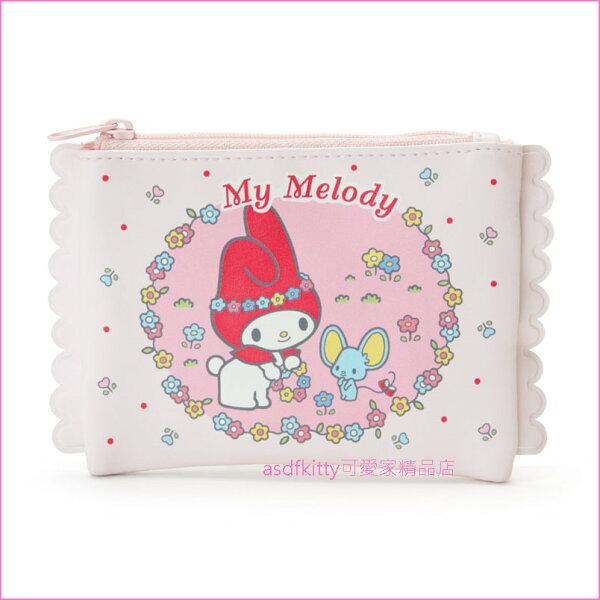 asdfkitty可愛家☆美樂蒂小老鼠面紙收納包化妝包-日本正版商品