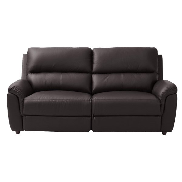 ◎(OUTLET)半皮3人用沙發 N-BEAZEL DBR 福利品 NITORI宜得利家居 1