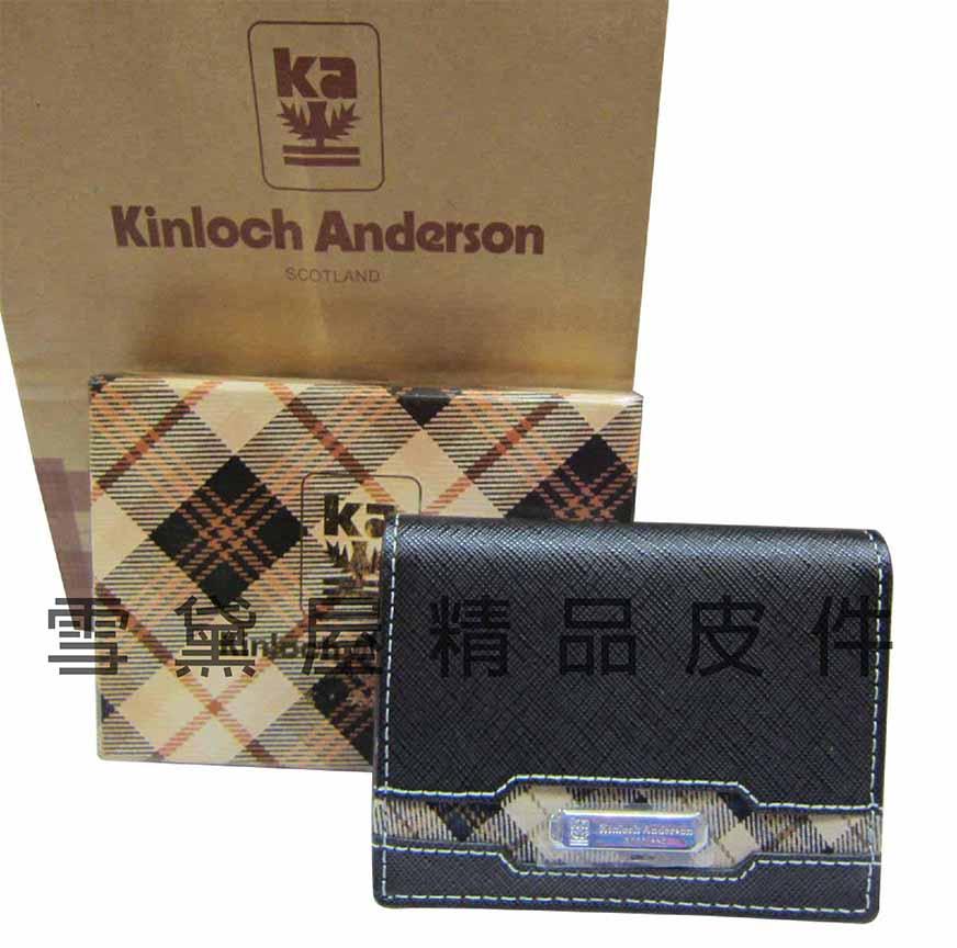 ~雪黛屋~Kinloch Anderson 英國專櫃男用名片夾標準尺寸100%進口牛皮大容量設計MKA153005