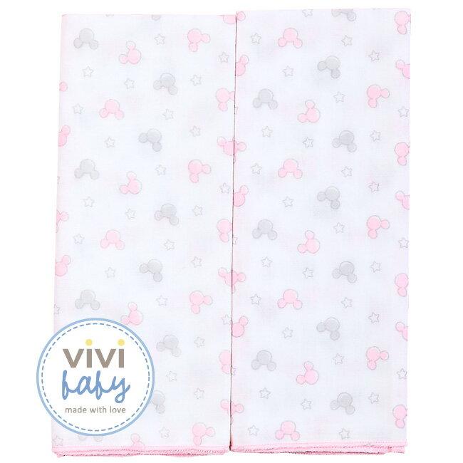 ViViBaby - Disney迪士尼超柔紗布澡巾2入 (粉) 1