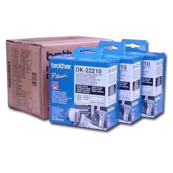 深見廣行科技:brotherDK-2221029mm耐久型紙質標籤紙內含三捲(QL5005505706501050專用)