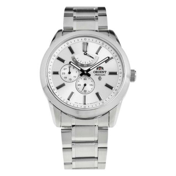 ORIENT東方錶WORLDTIME系列(FEZ08003W)世界時間機械錶皮帶款黑色43.5mm