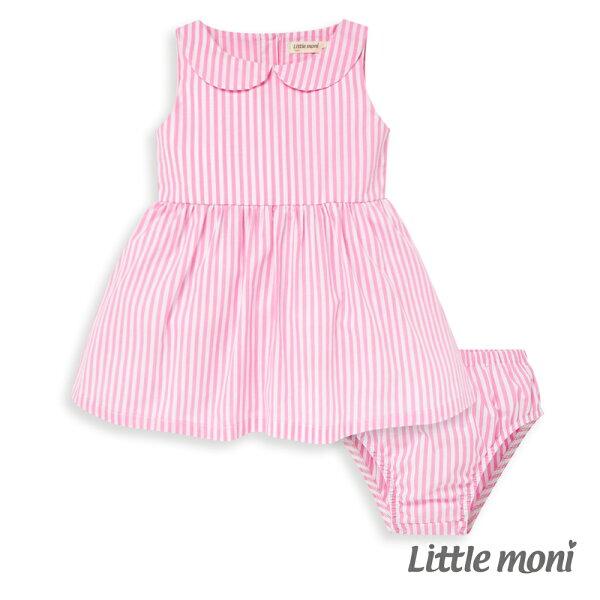 Littlemoni兩件組背心洋裝-粉紅