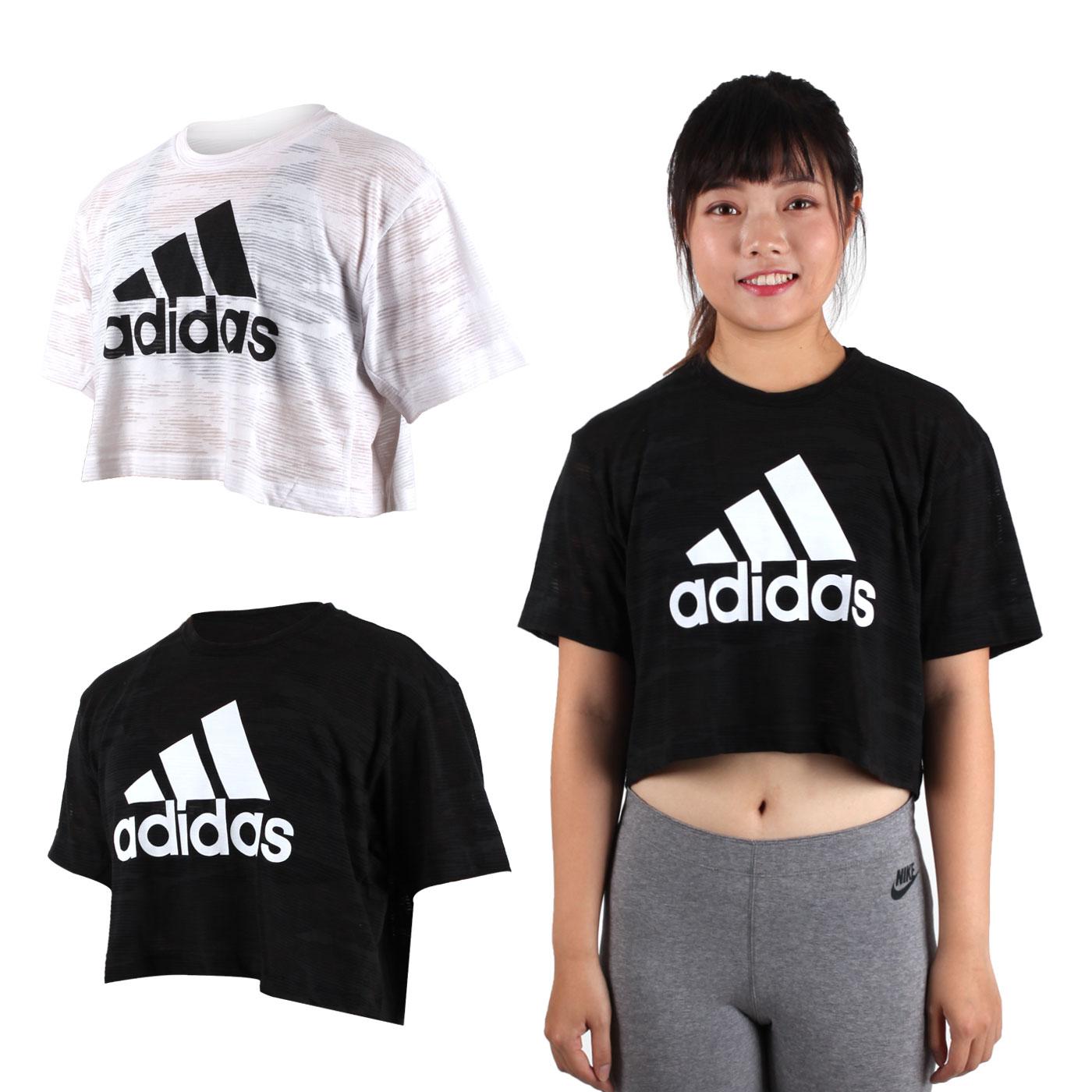 ADIDAS 女短袖上衣(慢跑 路跑 短T T恤 愛迪達【03312703】≡排汗專家≡