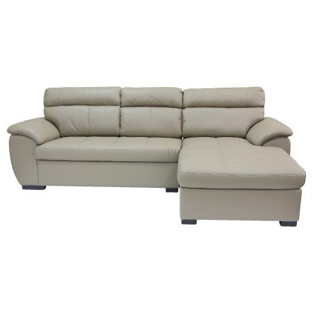 ◎(OUTLET)半皮左躺椅L型沙發 CAPUCCINO BE 福利品 NITORI宜得利家居 1