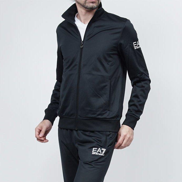 美國百分百【全新真品】Emporio Armani 阿曼尼 外套 立領 夾克 EA7 尼龍 運動 深藍 XL號 H802