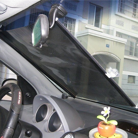汽車遮陽擋自動伸縮收縮隔熱簾58*125CM(一組2入)