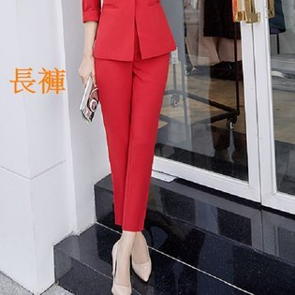 灰姑娘[8H340-PF]簡單時尚粉領OL西裝八分褲~