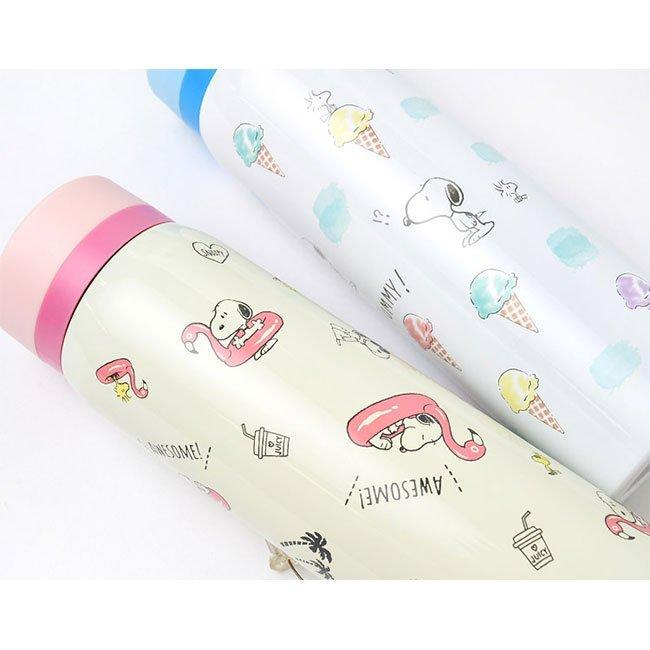 保溫冷瓶 Snoopy 史努比 480ml 粉藍2色 保溫保冷水瓶 日本進口正版授權