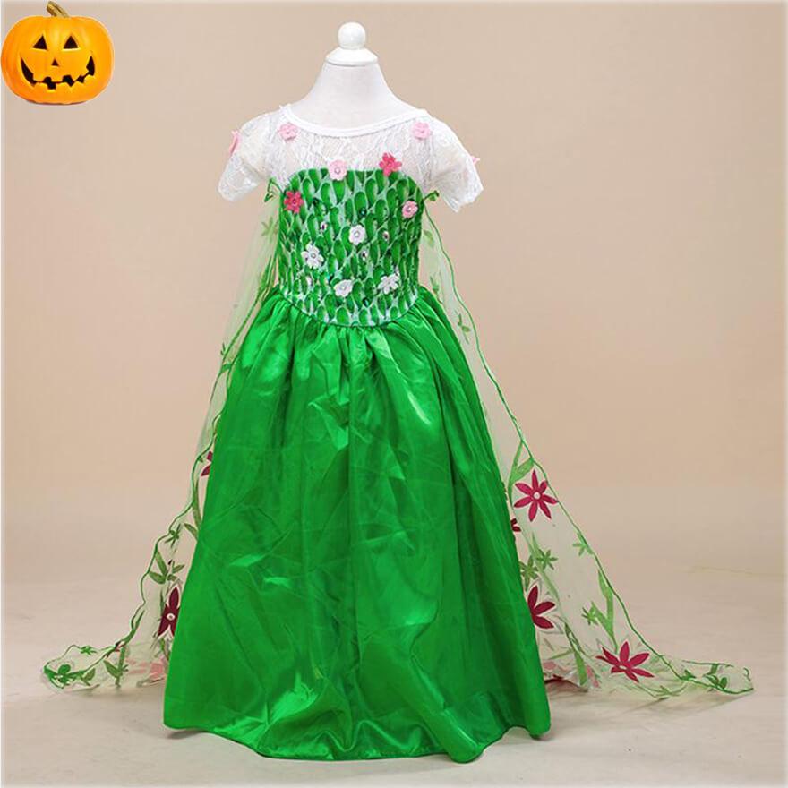 兒童萬聖節服裝 公主澎澎裙碎花洋裝紗裙