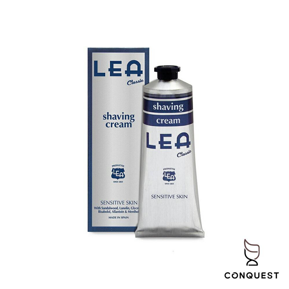 【 CONQUEST 】西班牙 LEA Classic 經典檀香刮鬍膏 刮鬍泡 適用任何膚質 溫和舒緩 深層保濕滋潤肌膚