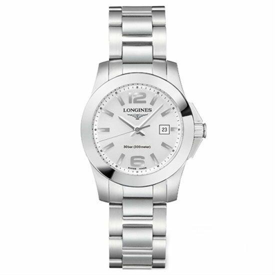 LONGINES L32764766經典征服者潛水機械女錶/白面29.5mm
