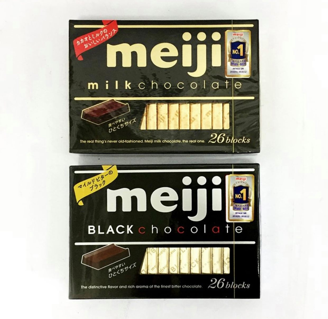 明治meiji 26枚盒裝巧克力 - 牛奶巧克力/黑巧克力 120g