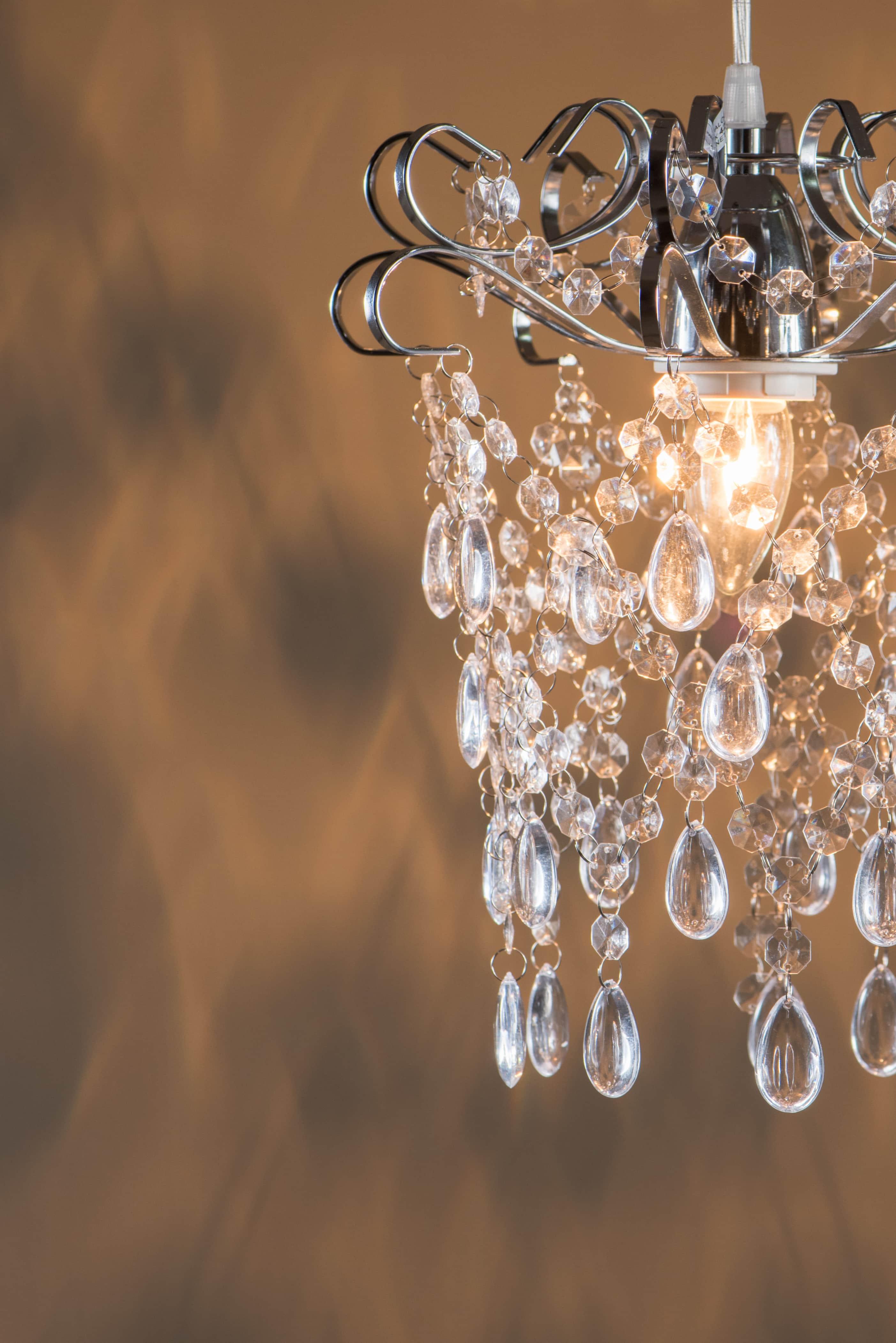 鍍鉻扁鐵框透明壓克力珠吊燈-BNL00048 1