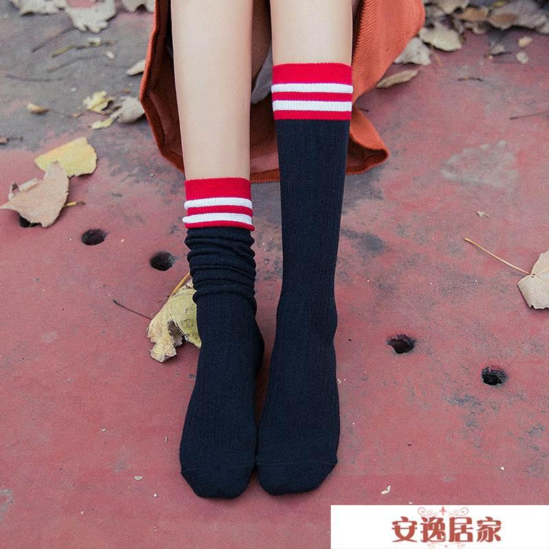 堆堆襪女韓國秋冬潮個性薄款夏季日系襪子女中筒韓版學院風長高筒 安逸居家