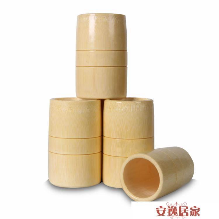 王道竹罐拔火罐一套裝竹火罐12罐竹筒竹吸筒竹子制拔罐器竹罐套罐 安逸居家