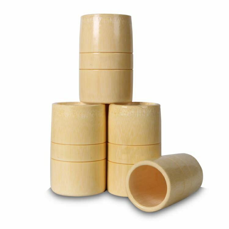 罐拔火罐套裝竹火罐12竹筒竹吸筒竹子制拔罐器竹罐套罐家用