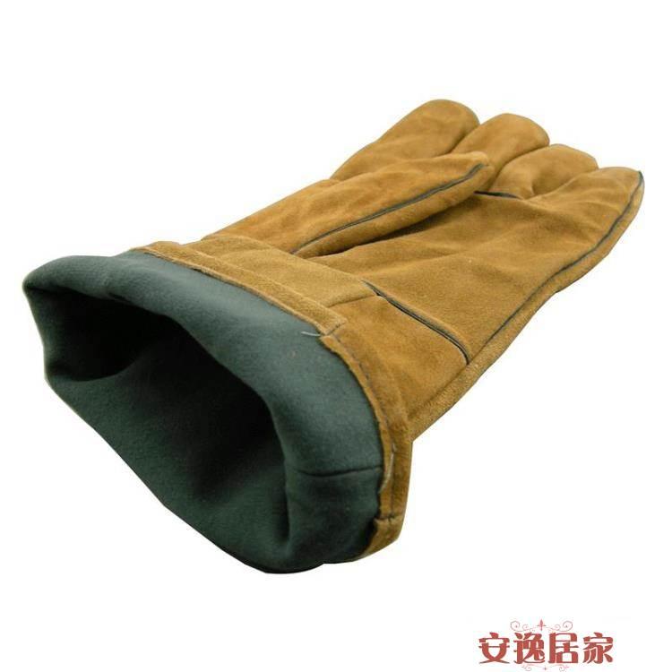 加長牛皮電焊手套 電焊焊工手套 防護勞保手套 耐磨工作手套 2