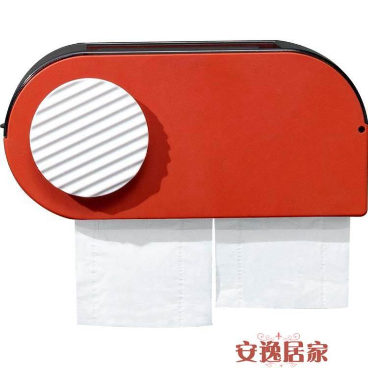 衛生間紙巾盒免打孔廁紙置物架多功能壁掛式創意防水抽紙捲紙筒 下殺優惠